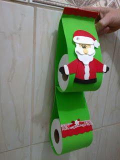 Artesanato enfeites natal eva banheiro