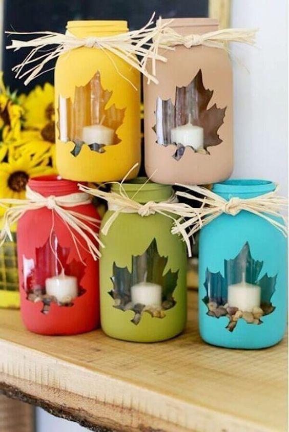 Artesanato enfeites natal frascos