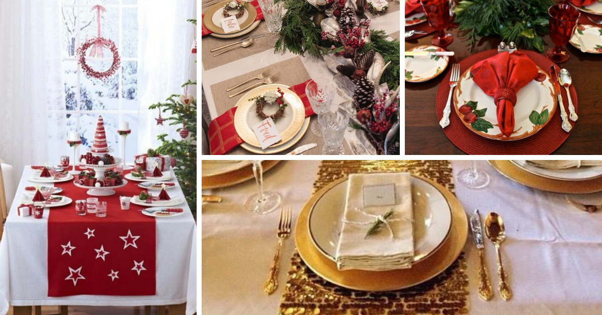 Decorar a Mesa no Natal
