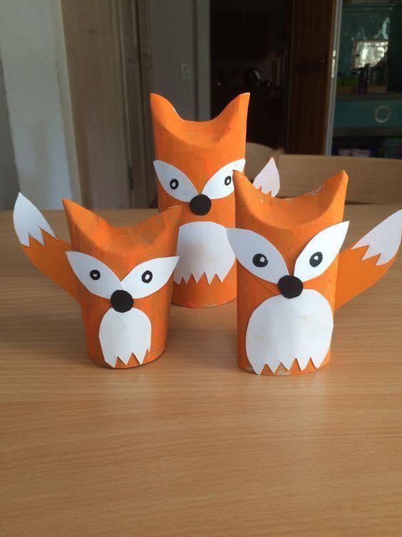 animais feitos com rolos de papel higienico 3