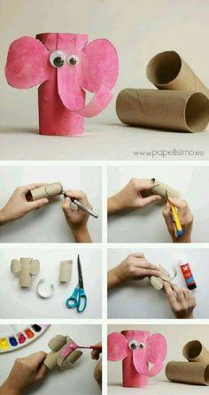 animais feitos com rolos de papel higienico 5