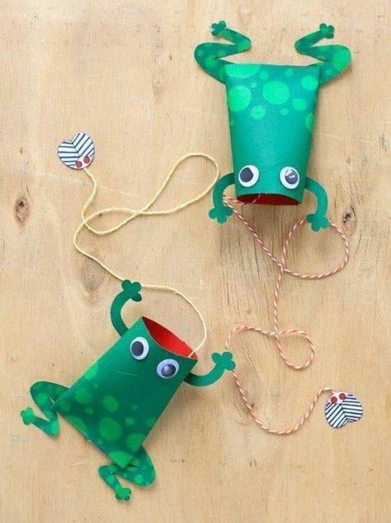 animais feitos com rolos de papel higienico