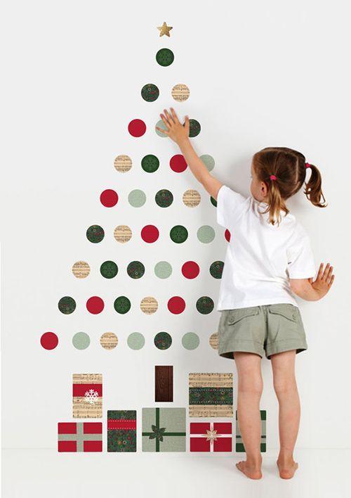 arvore natal criativa Washi Tapes bolas
