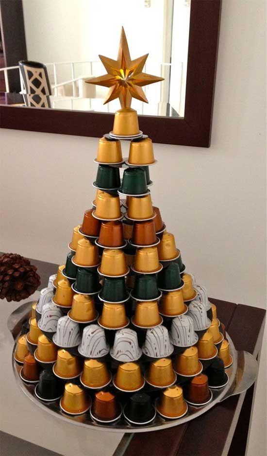 arvore natal criativa capsulas cafe vertical