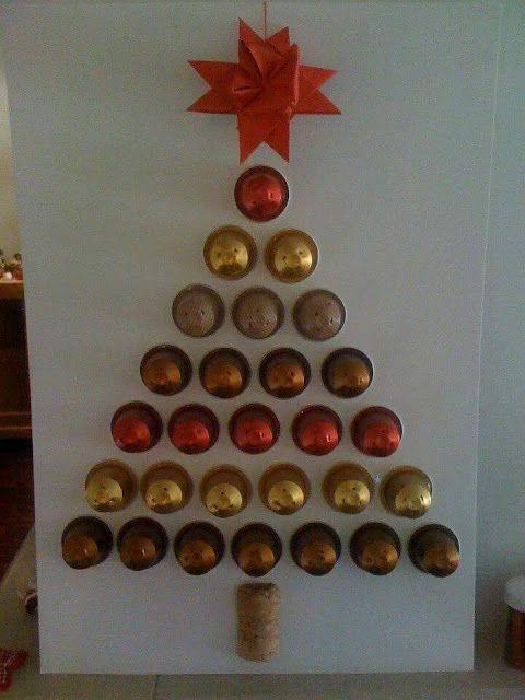 arvore natal criativa capsulas cafe