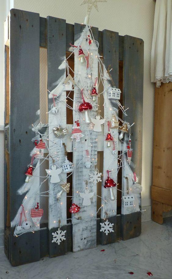 arvore natal criativa madeira