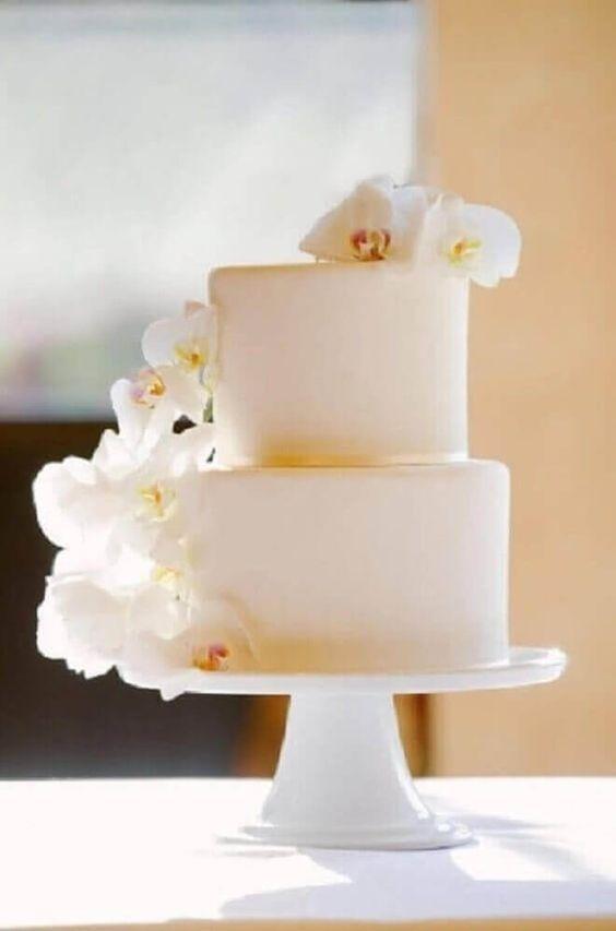 bolo casamento branco