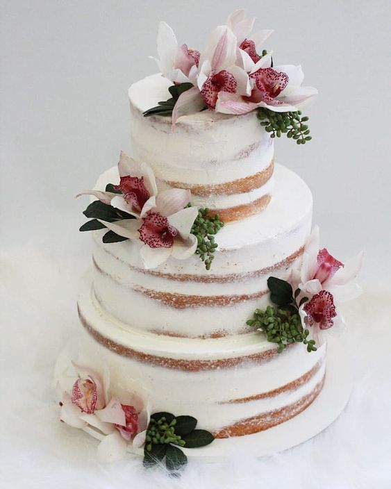 bolo casamento flores naturais