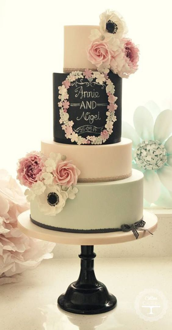 bolo casamento modernos lousa