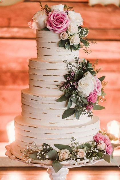 bolo casamento romanticos naked cake