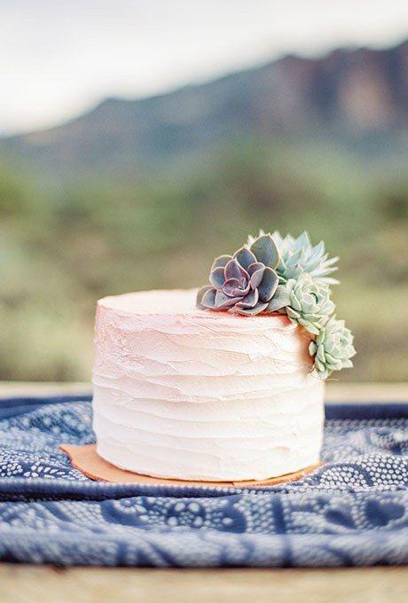 bolo casamento simples suculentas