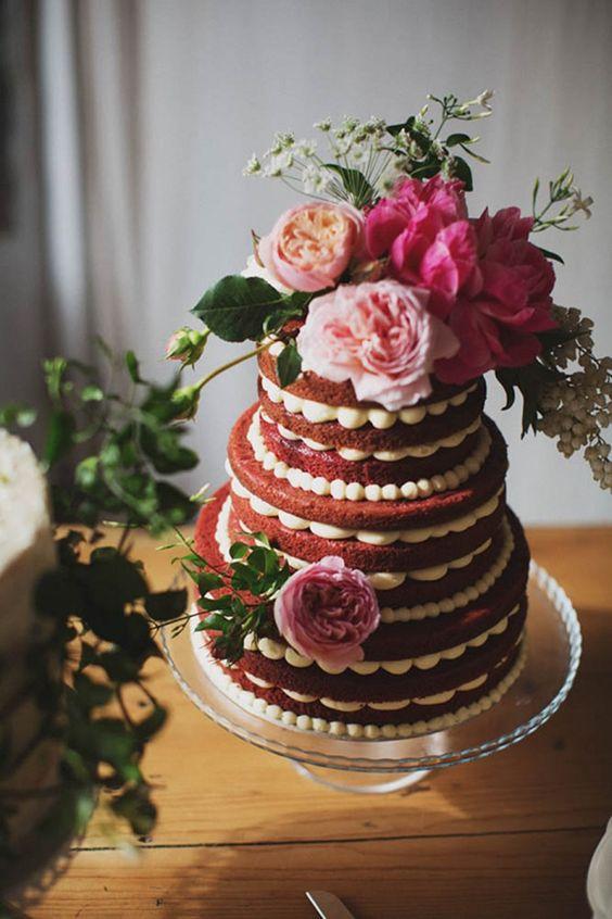 bolo decorado 15 anos vermelho