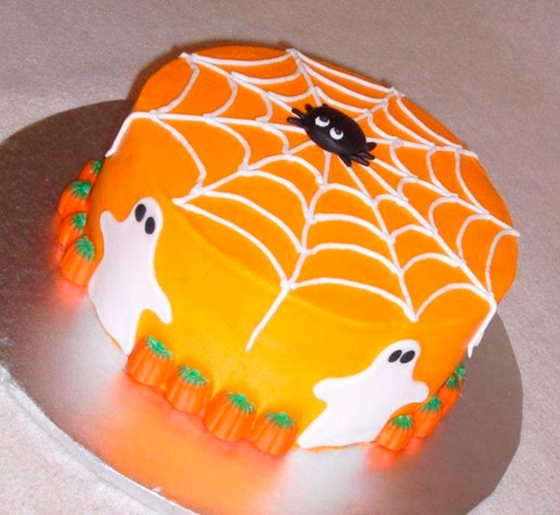 bolo decorado halloween abobora