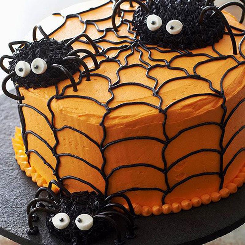bolo decorado halloween aranha