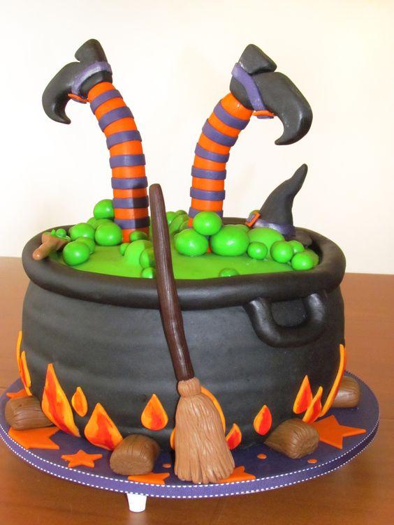 bolo decorado halloween
