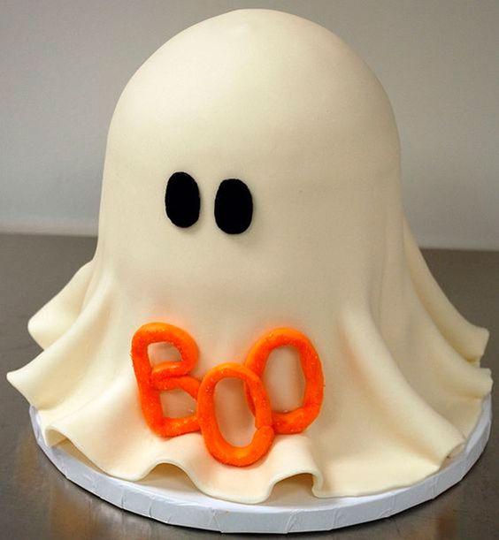 bolo decorado halloween fantasma