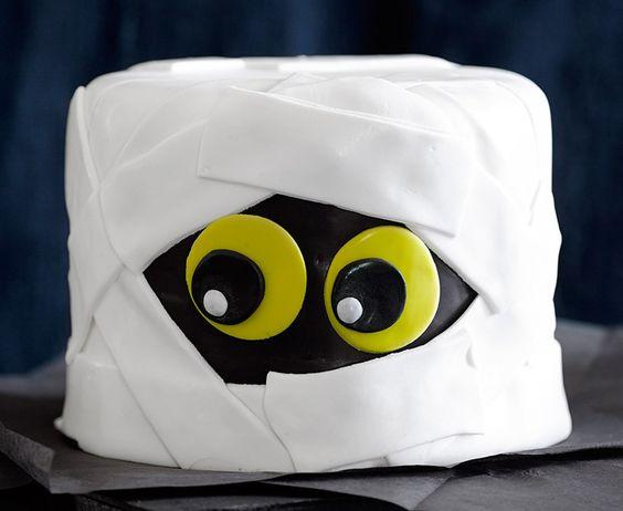 bolo decorado halloween mumia