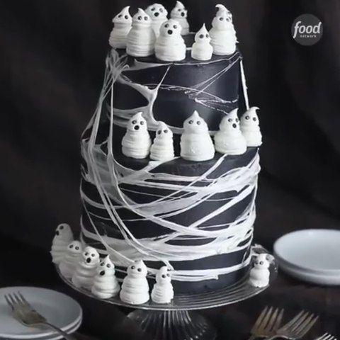 bolo decorado halloween preto