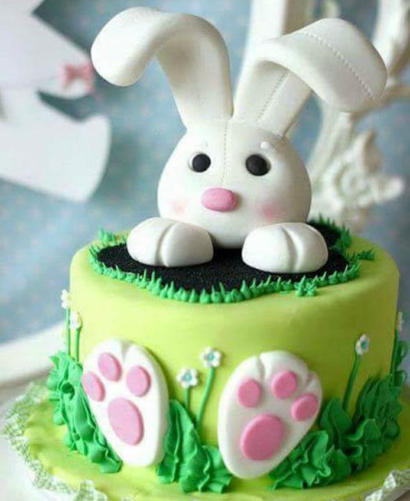 bolo decorado pascoa coelho