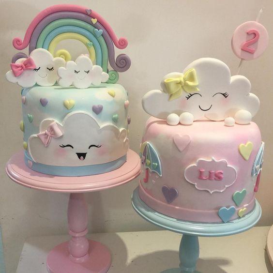 bolo festa chuva amor cha bebe