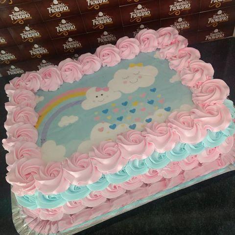 bolo festa chuva amor quadrado