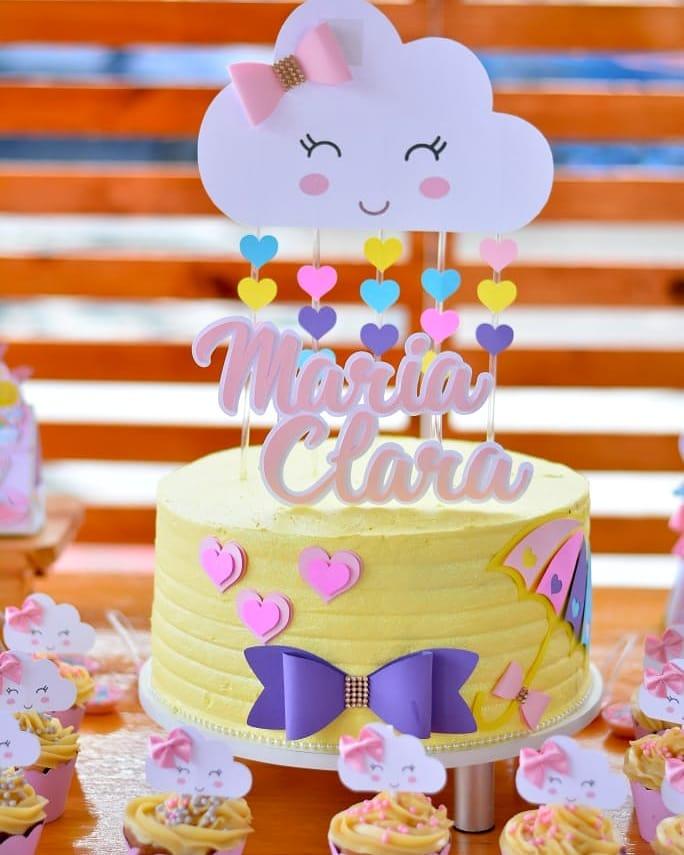 bolo festa chuva amor
