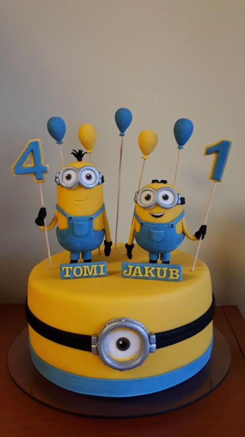 bolo festa minions decorado