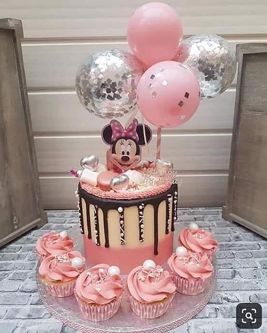 bolos decorados festa minnie