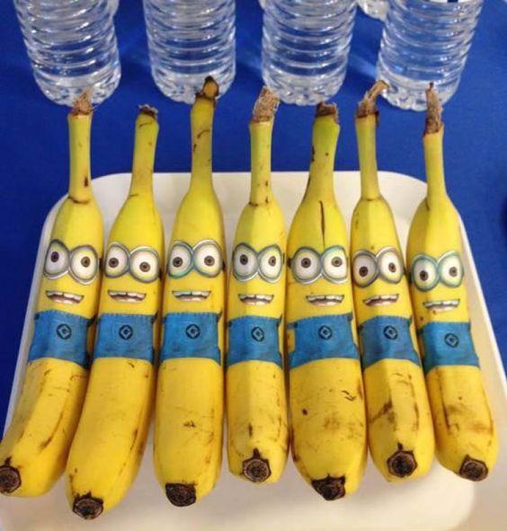 comidinha festa minions bananas