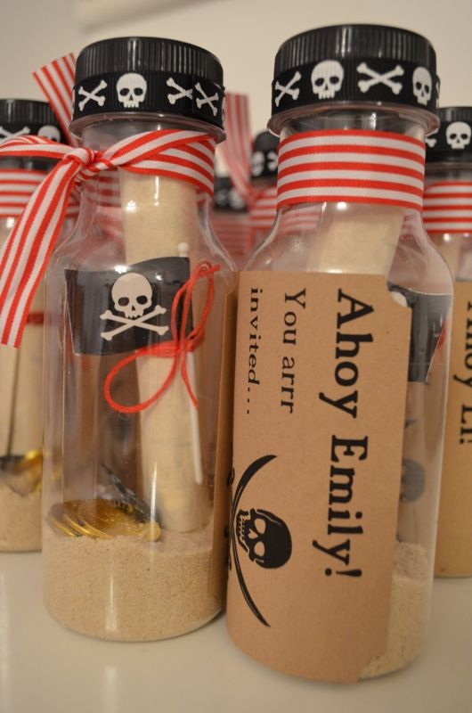 convite festa infantil criativo pirata