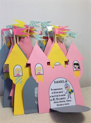 convite festa infantil criativo princesa