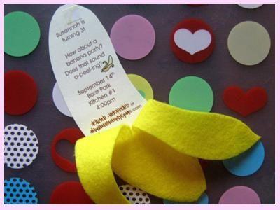 convite festa infantil simples banana