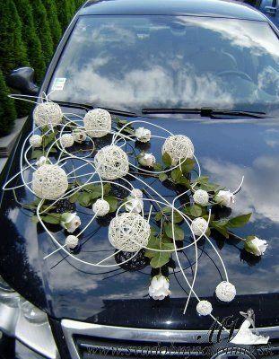decoracao carro noivos bolas