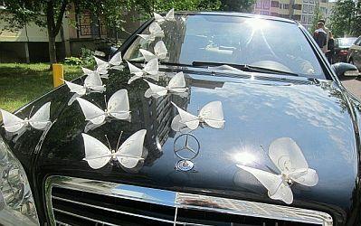 decoracao carro noivos borboletas
