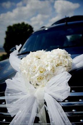 decoracao carro noivos coracoes
