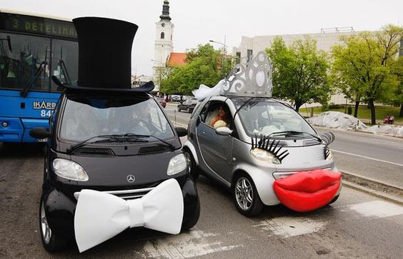 decoracao carro noivos criativo