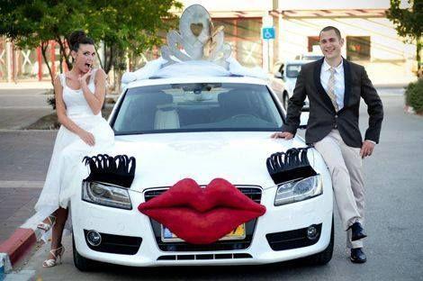 decoracao carro noivos original