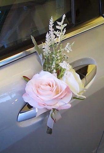 decoracao carro noivos porta