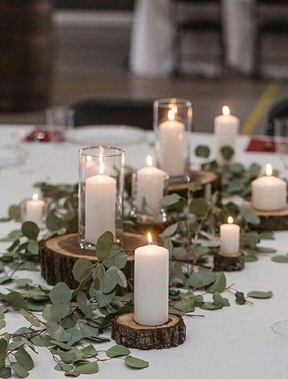 decoracao casamento simples centro mesa
