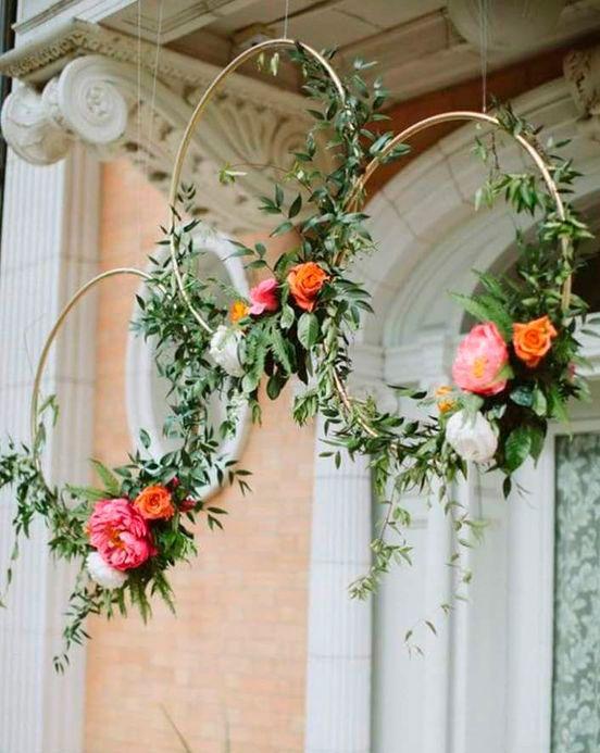 decoracao casamento simples flores diy