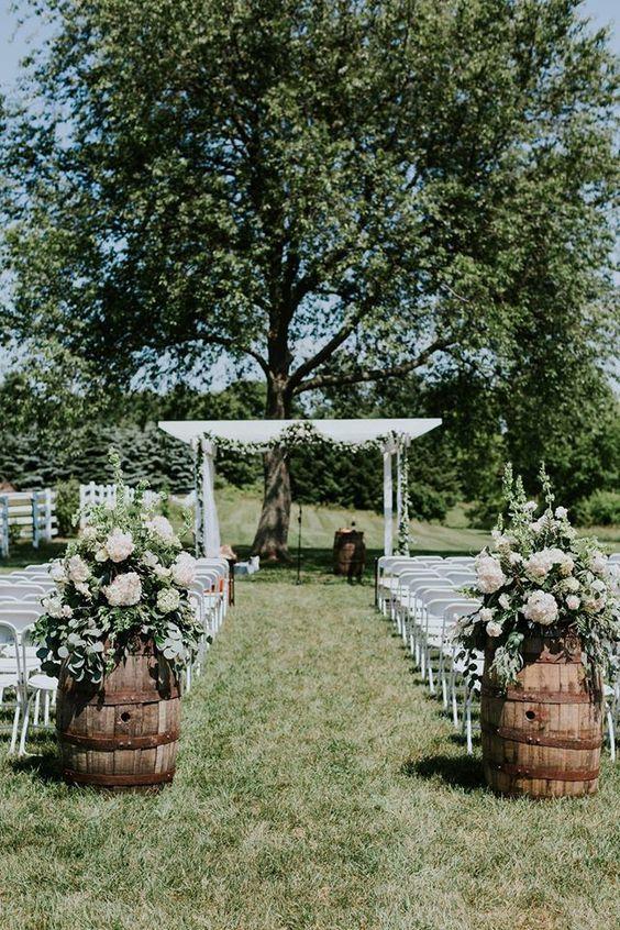 decoracao casamento simples flores rustico