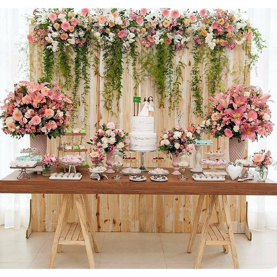 decoracao casamento simples mesa bolo