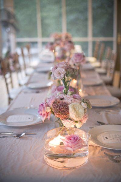 decoracao casamento simples velas mesa