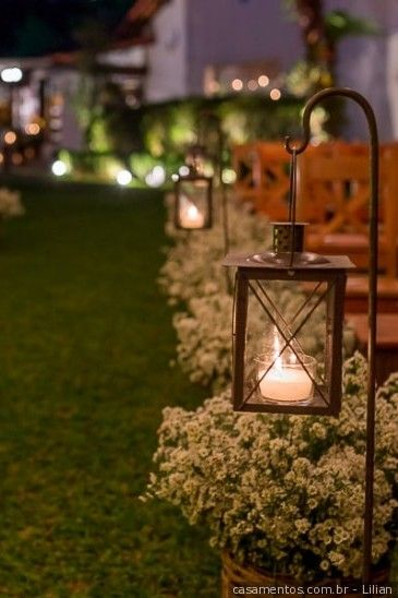 decoracao casamento simples velas