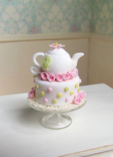 decoracao cha panela bolo rosa