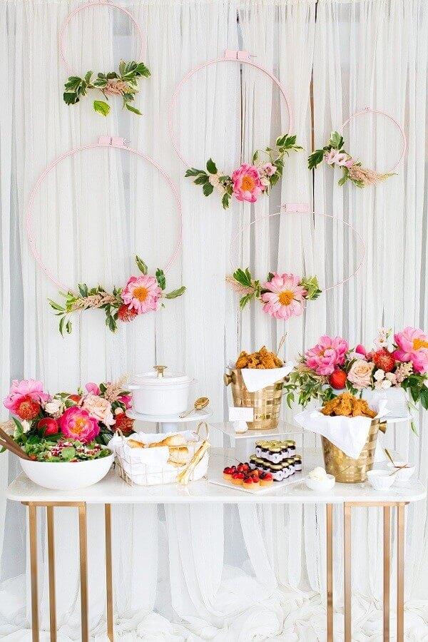 decoracao cha panela rosa