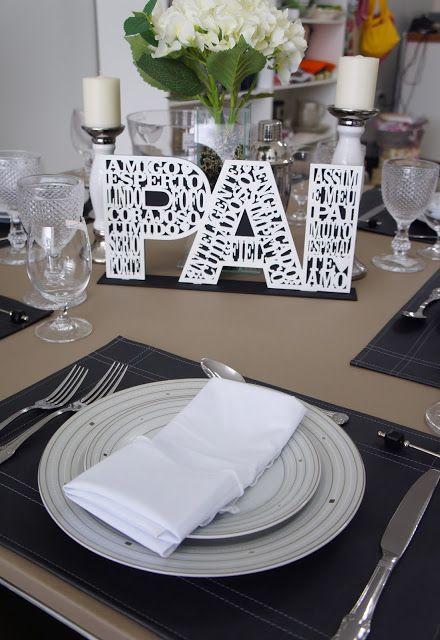decoracao dia pais criativa mesa