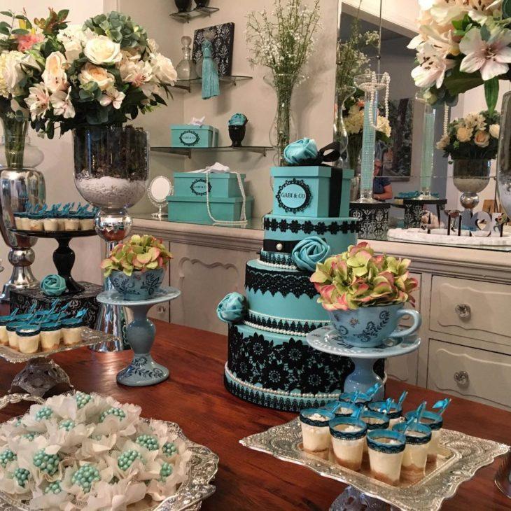 decoracao festa 15 anos azul