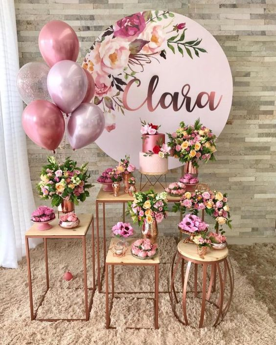 decoracao festa 15 anos rosa