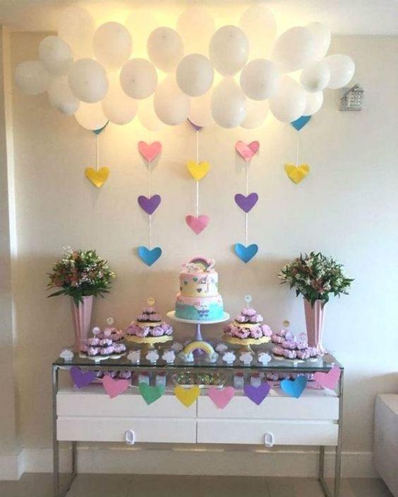 decoracao festa chuva amor baloes